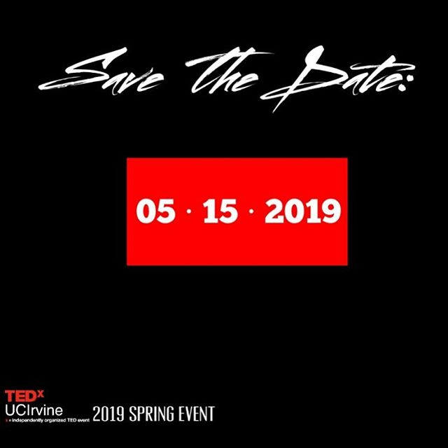 "The moment you ALL have been anticipating, our annual Spring 2019 event. Make sure to mark your calendars, TEDxUCIrvine would like to proudly present ""CTRL + ALT + DELETE"". Join us on May 15th for an unforgettable experience with a wide array of speakers that won't dissapoint. Stay tuned as we reveal speakers and smaller on campus events that you won't want to miss."