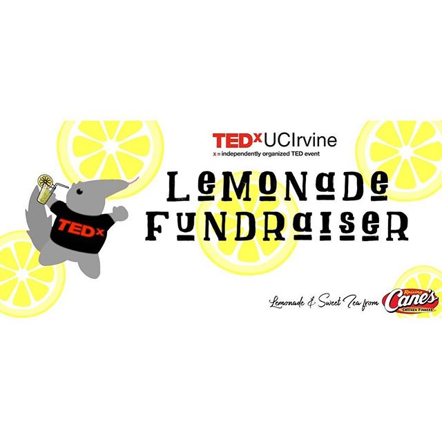 Having a sour week? Make it sweet! Come out and support TEDxUCIrvine's lemonade/sweet tea fundraiser! Meet the team @ Ring Road near the flagpoles from 10-3pm. See you there! 😊