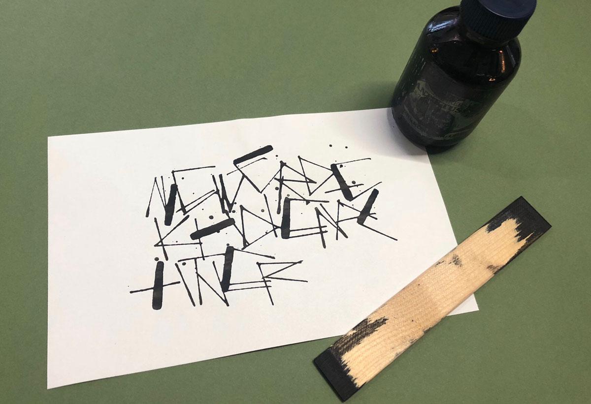 Experimentelle Kalligrafie    Schriftschatz   Duesseldorf