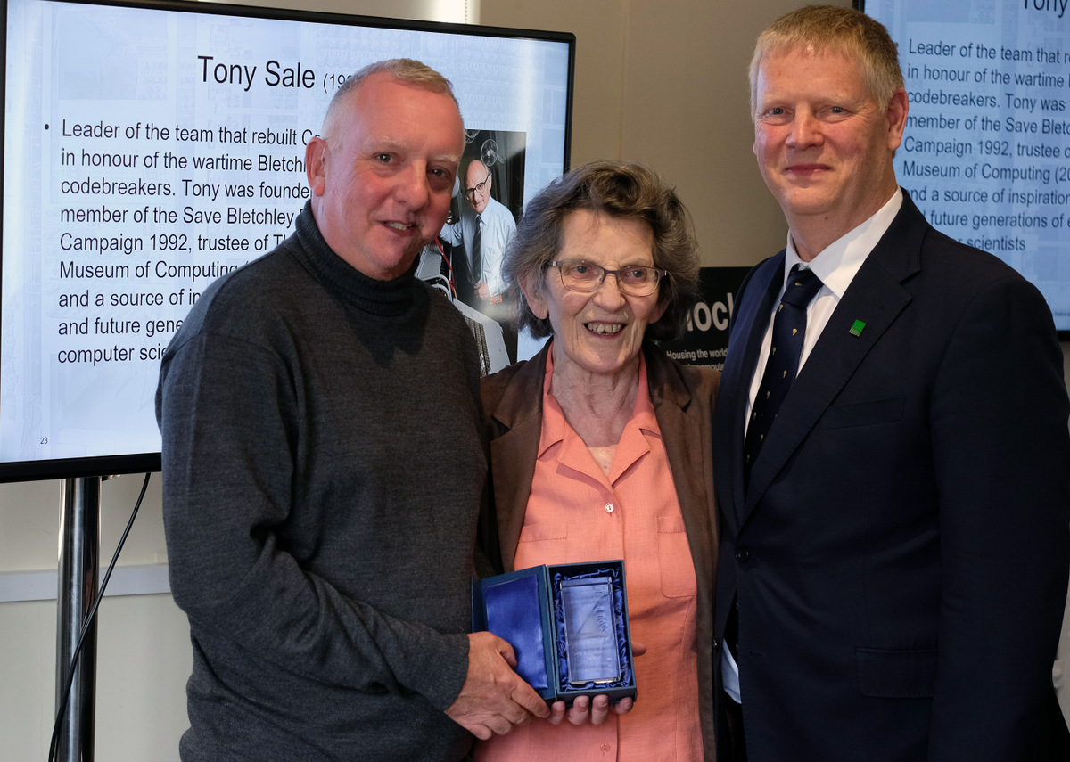 Trustee Kevin Murrell, TNMOC FELLOW Margaret Sale, Trustee Andy Clark