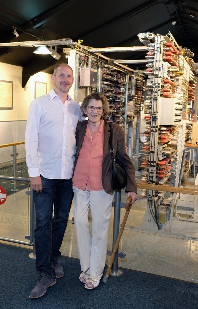 Margaret Sale with son Nigel Sale