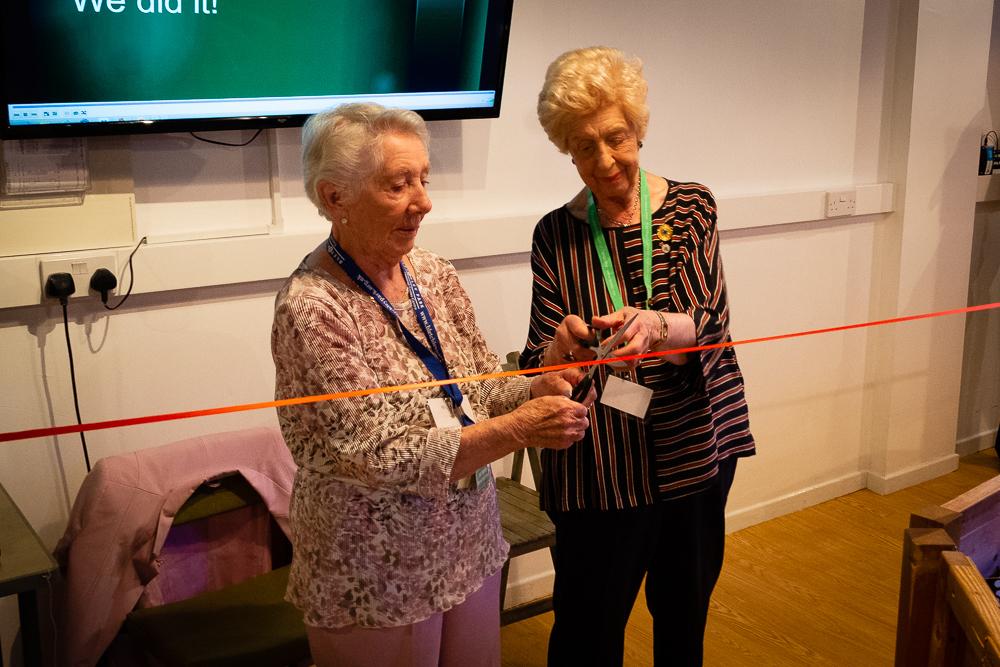 Jean Valentine with Ruth Bourne