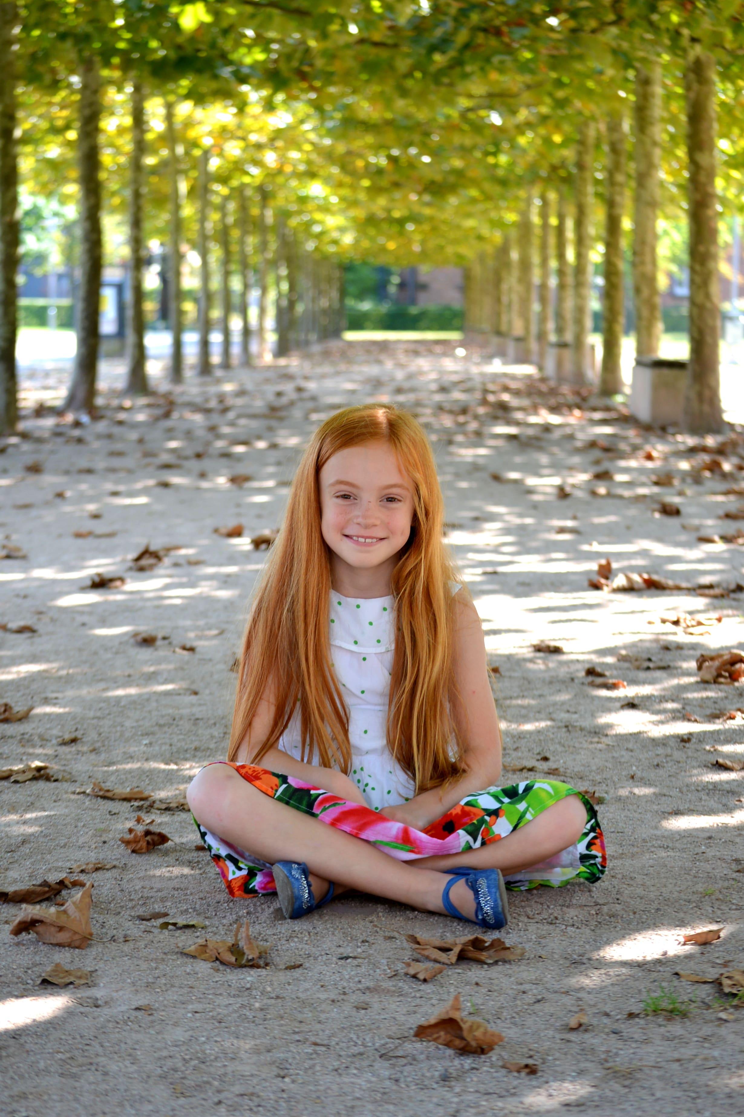 Rootharige Mädchen Im Park Natur Silke Berg Fotograf Offenburg
