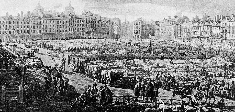 1811:Smithfield livestock market -