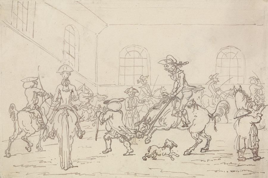 1790s?: A riding school -