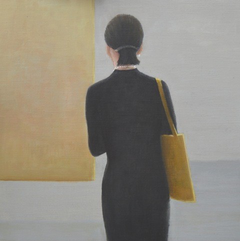Private View, girl in black