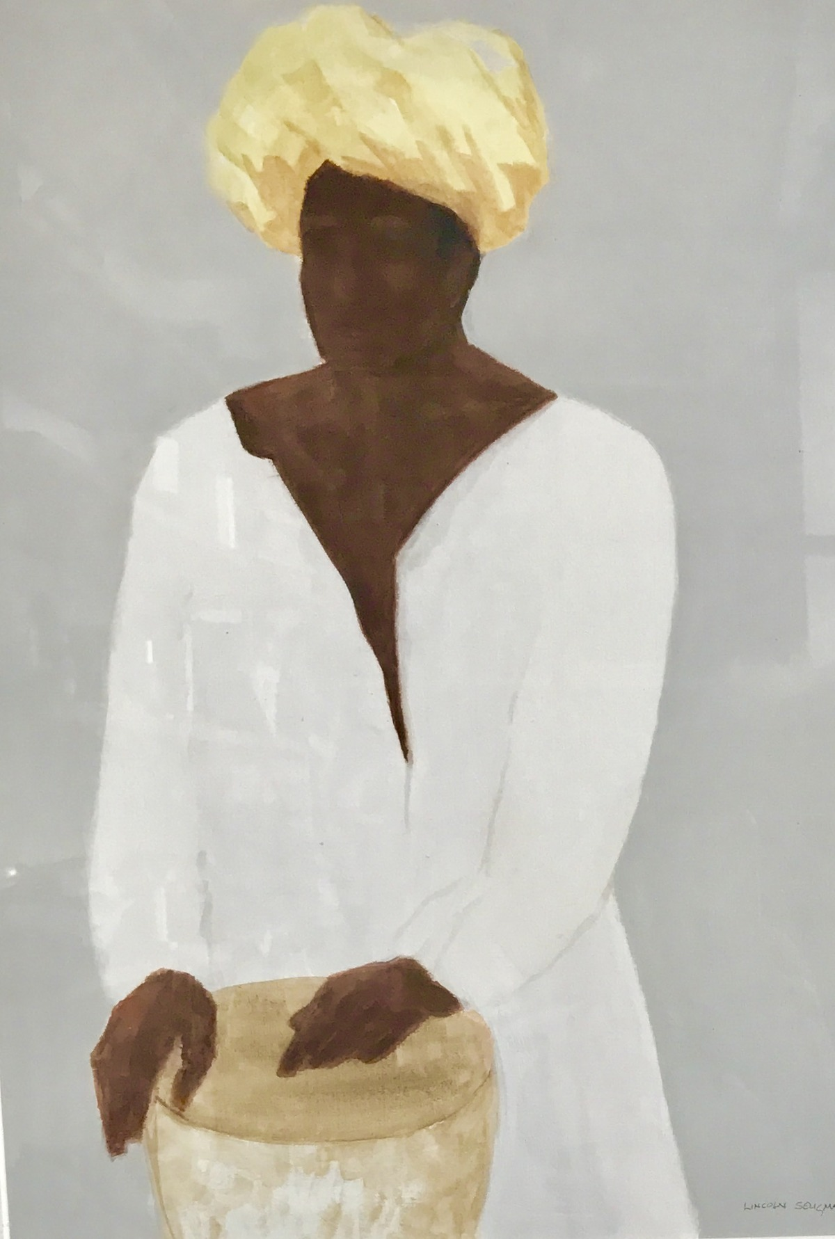 Drummer, yellow turban