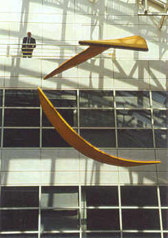 Suspended sculptures for Prudential (UK)