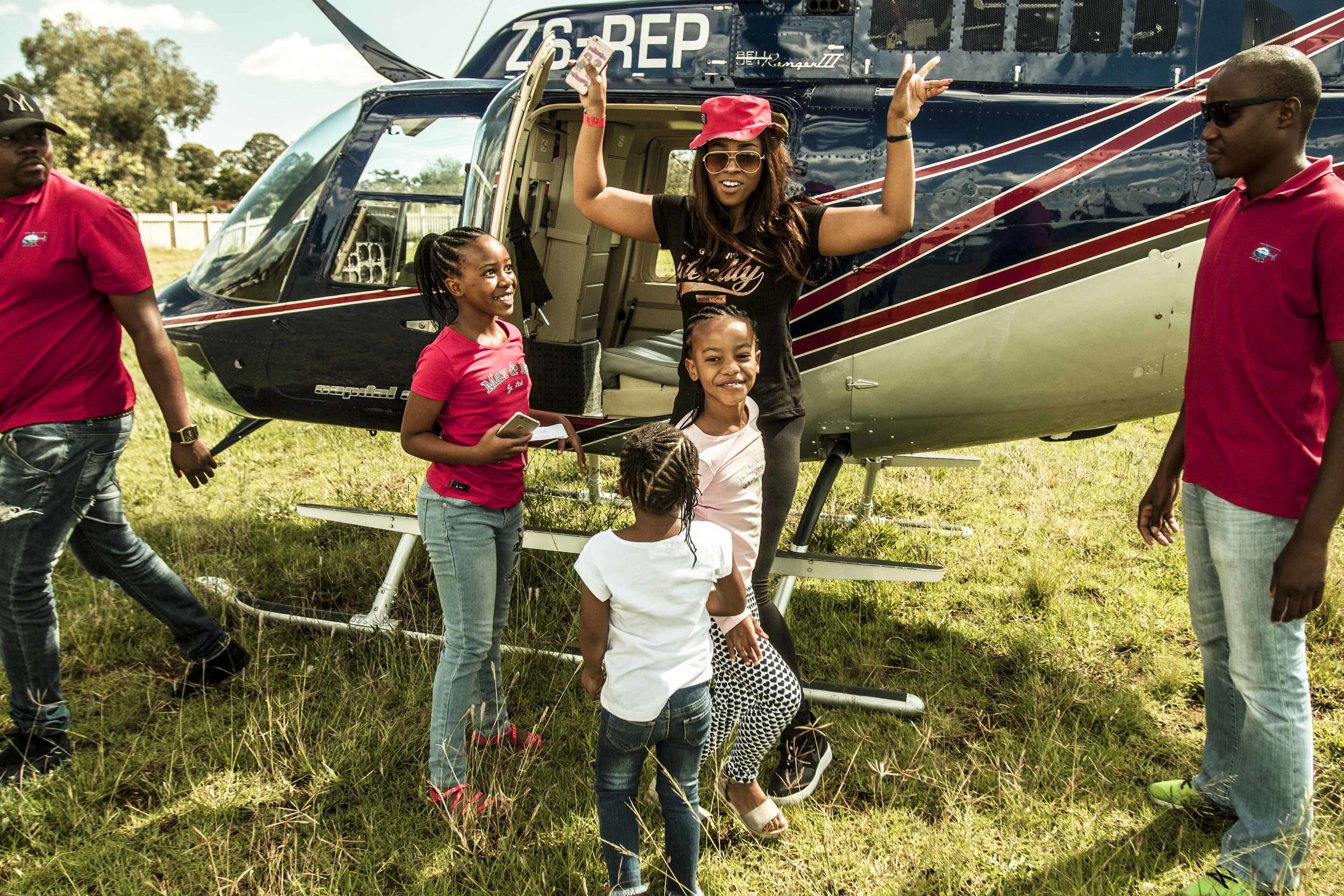 Helicopter rides at  Sharpeville Food Festival®