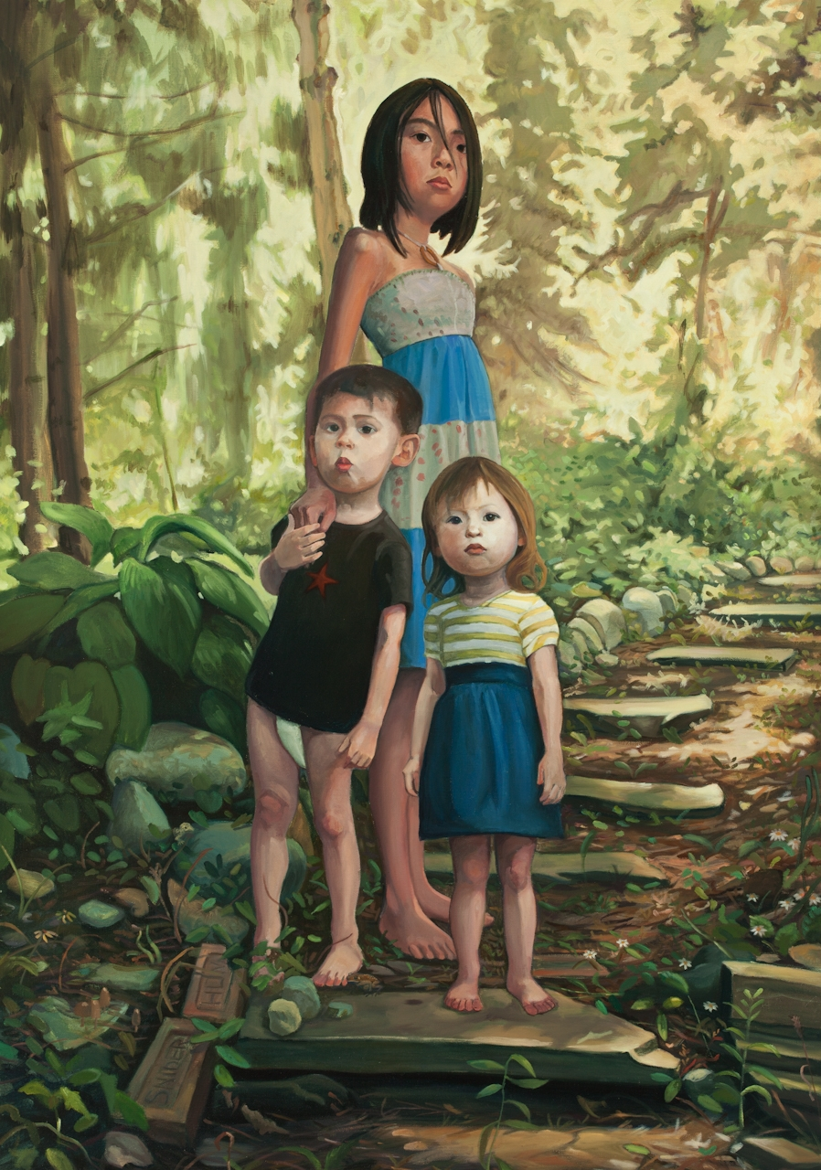 Children in The Wood  2010 46 x 32 inches