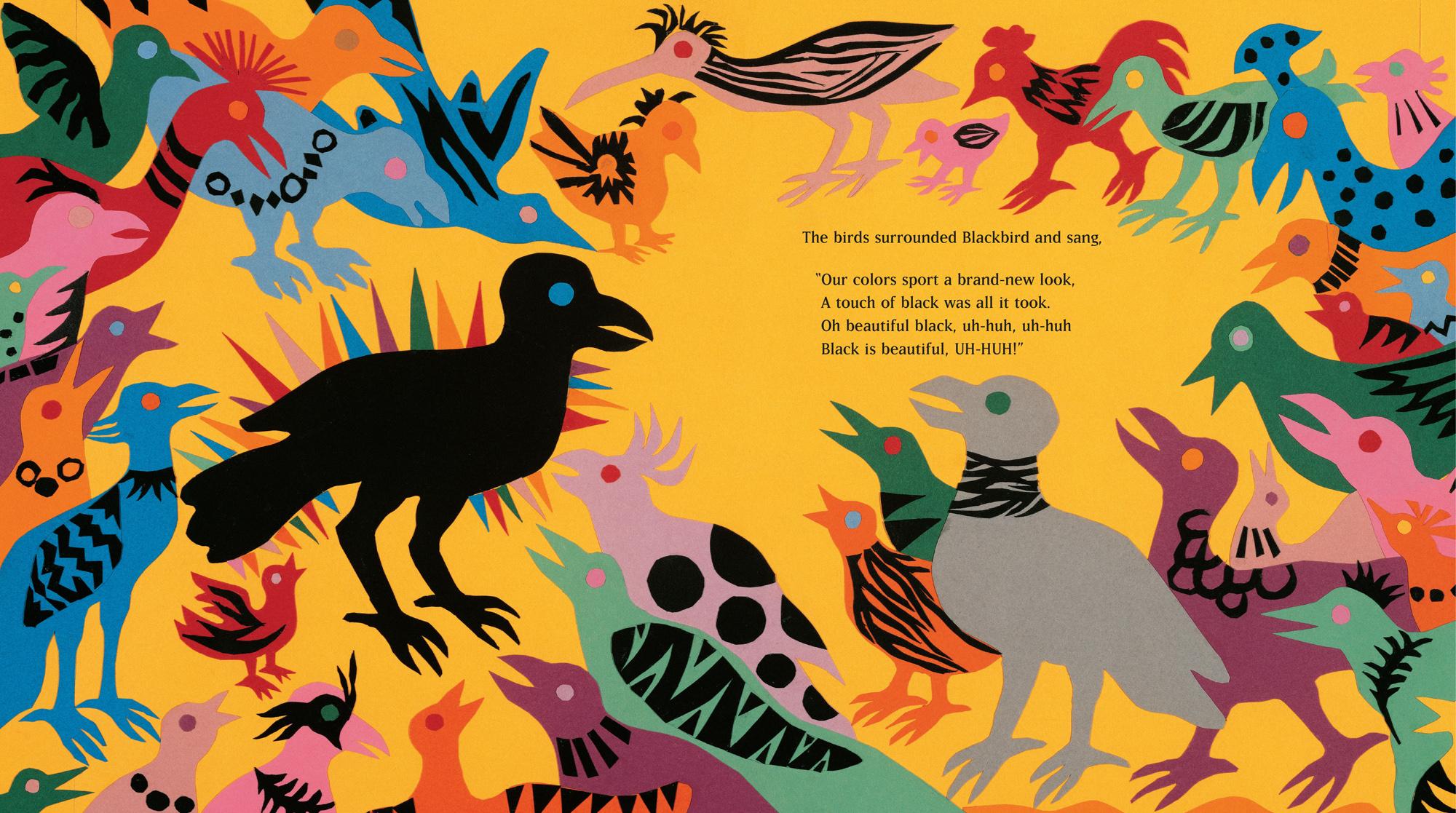 Beautiful Blackbird , by Ashley Bryan, courtesy The Ashley Bryan Center