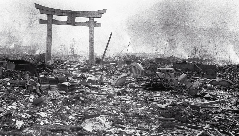 Sannoh Shrine, Nagasaki, August 10, 1945 , photo by Yosuke Yamahata