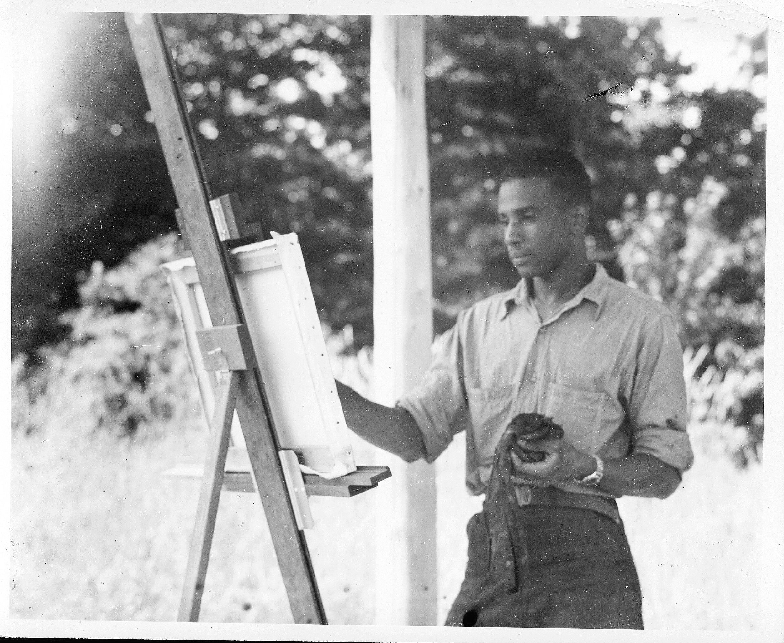 Ashley Bryan at Skowhegan School of Painting and Sculpture, 1946