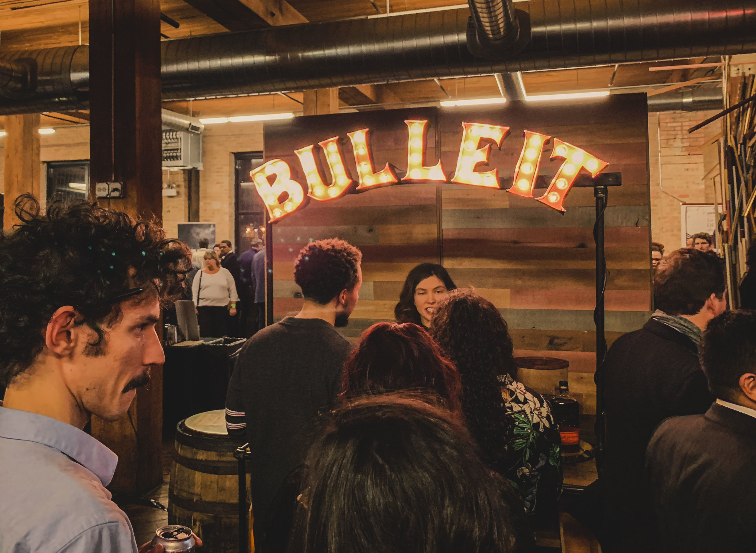 Bulleit Distilling Co.'s whiskey booth at Chicago Magazine's Barrel Night