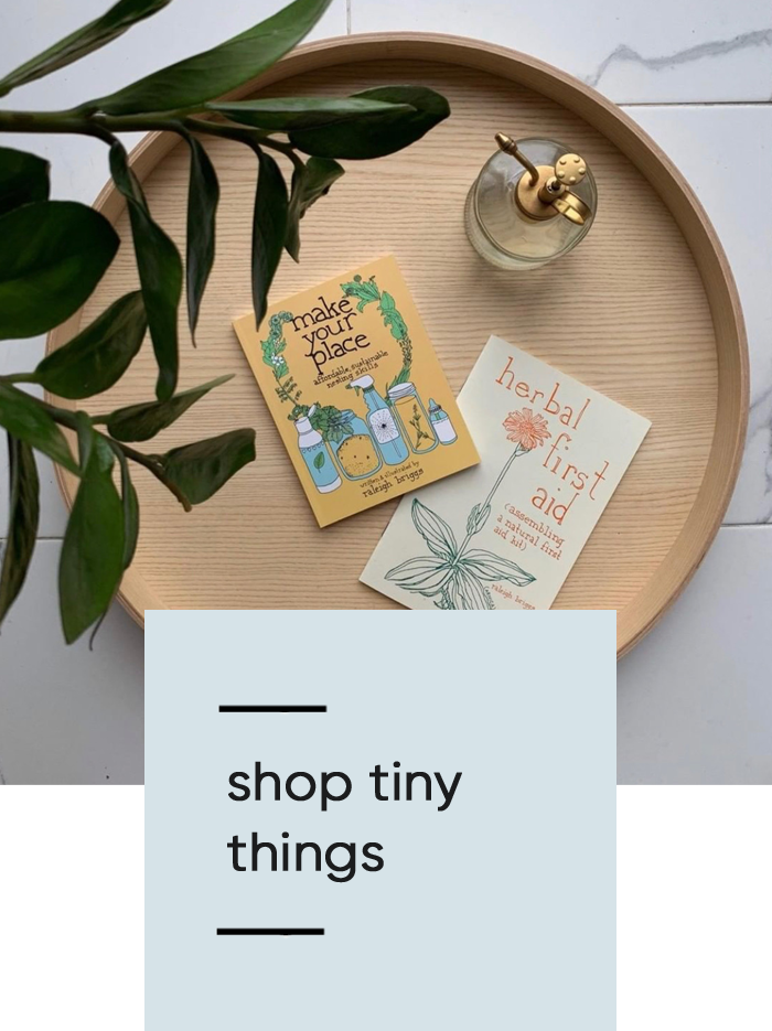 all the things in our space are intentionally chosen and sourced. we love the brands we collaborate with and here we house a few of our tiny favorites.