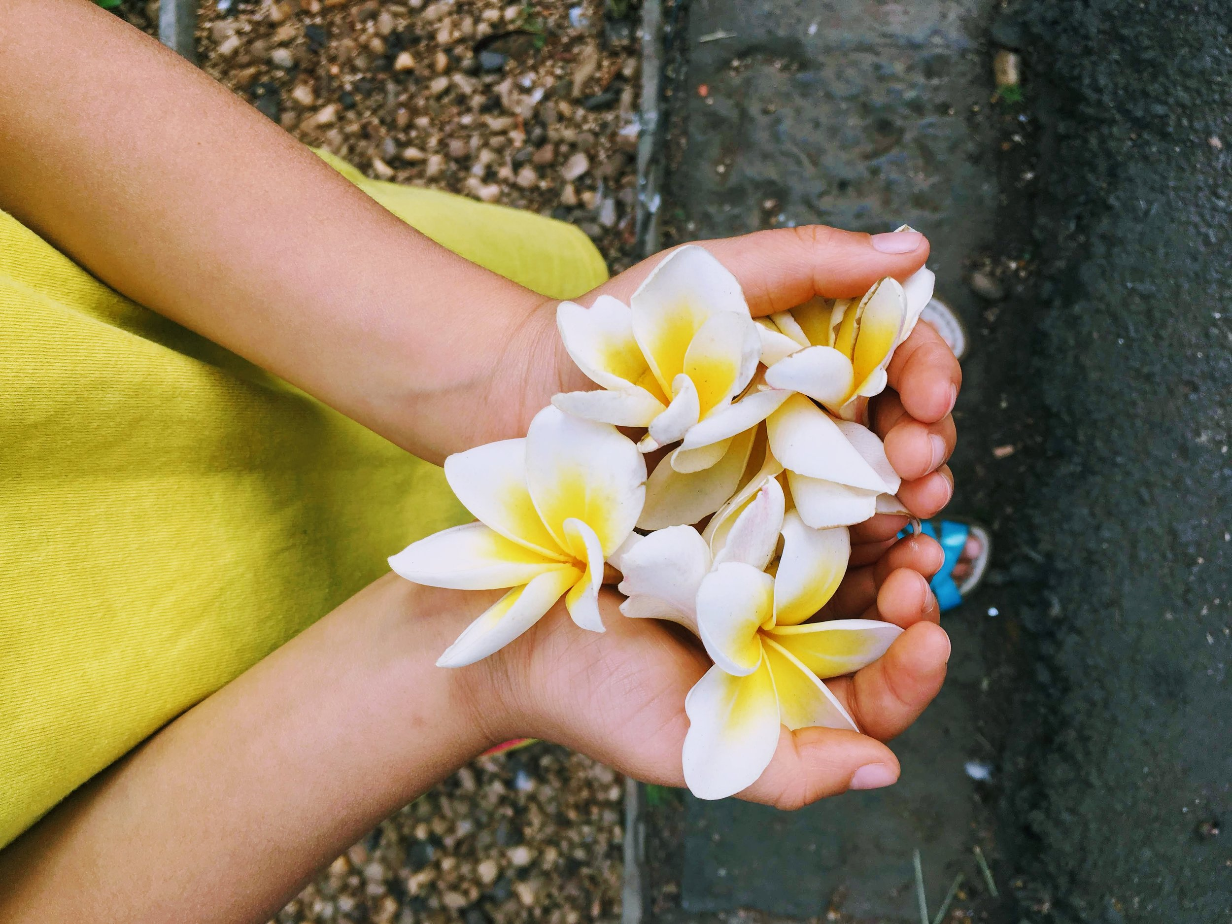 zeenat flowers in hand.JPG