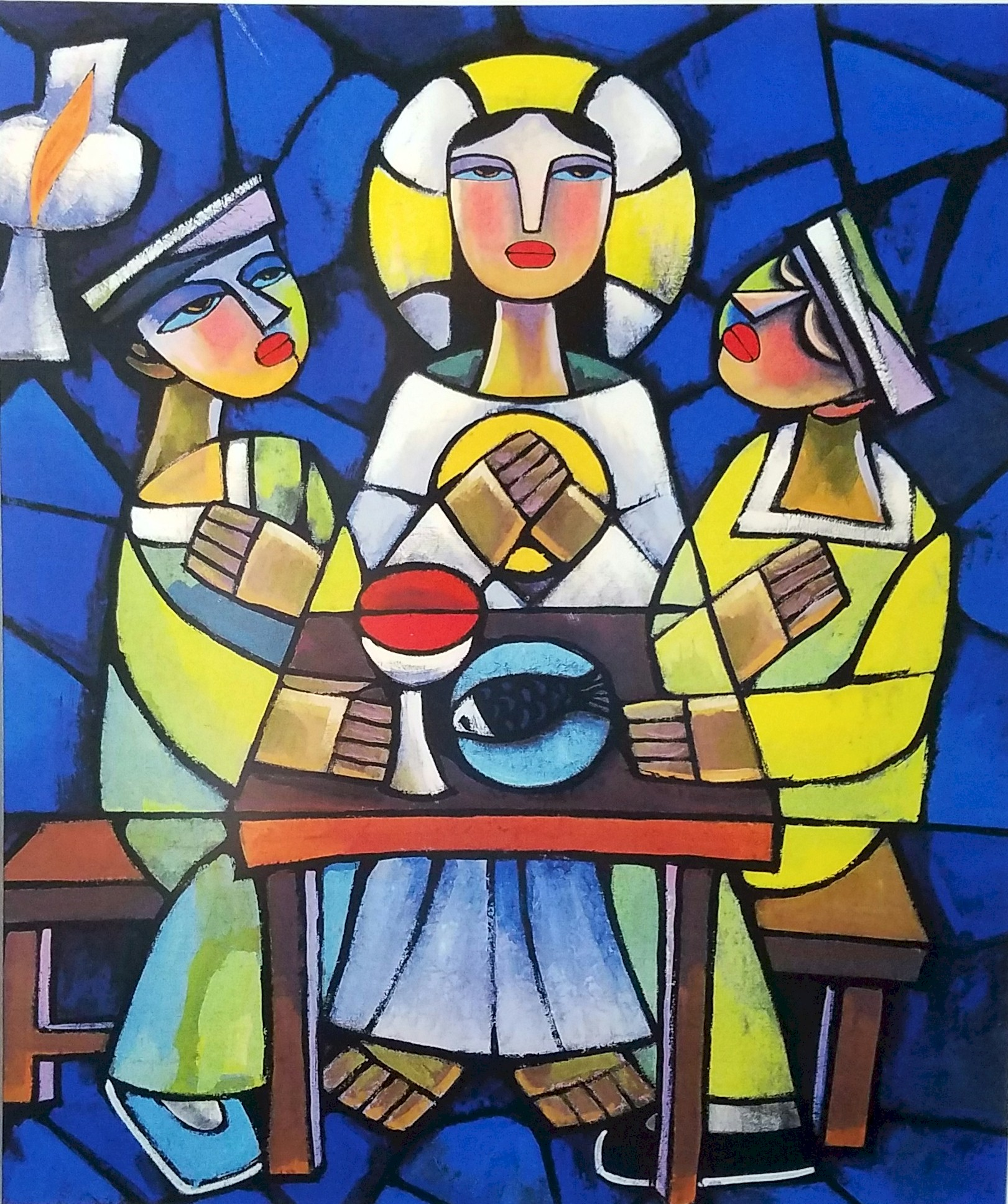 Supper at Emmaus  by He Qi