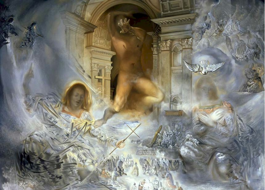 Trinity (detail)  Ecumenical Council by Salvador Dali