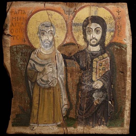 Christ and Abbot Menas icon    Louvre, Paris