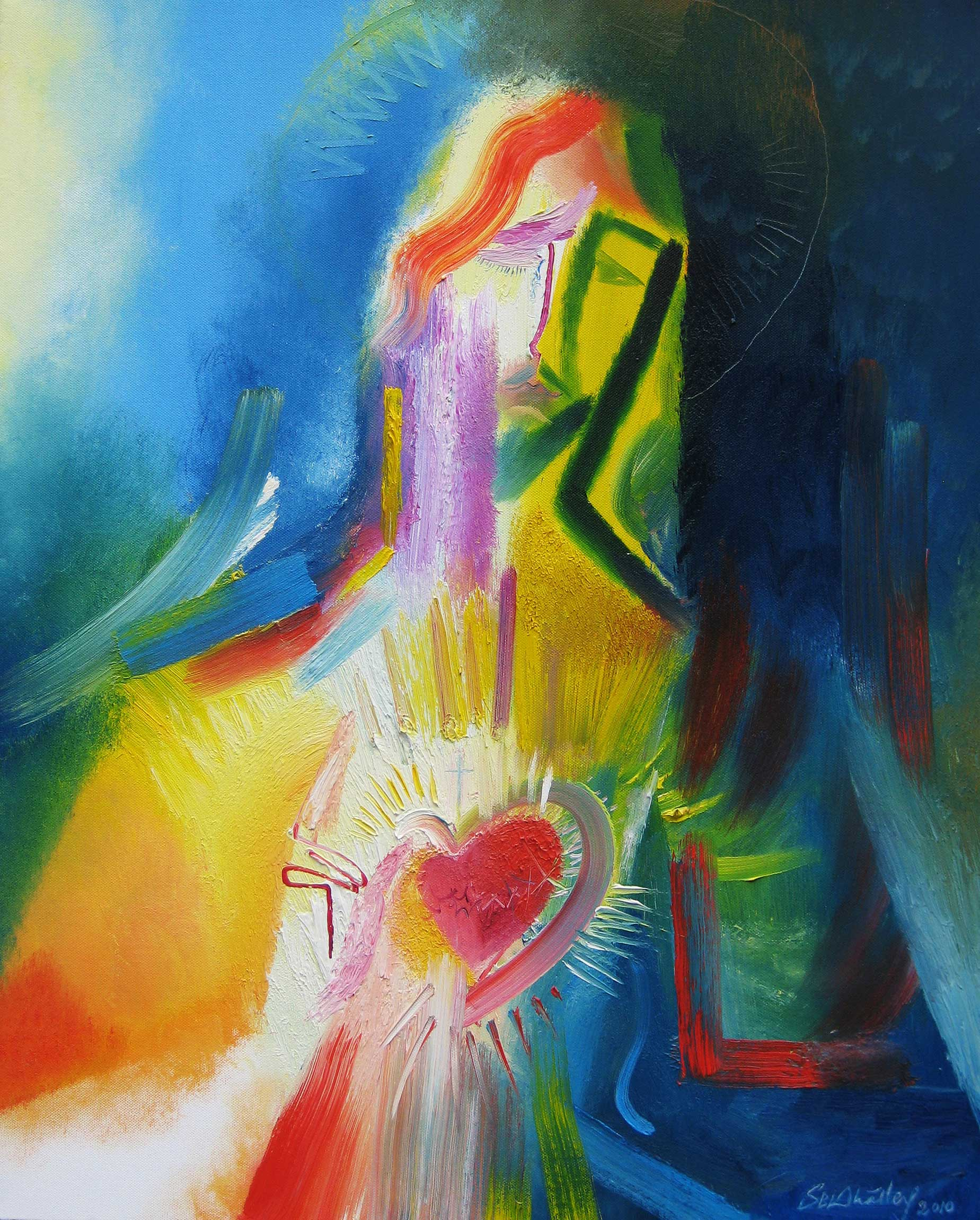 Sacred Heart of Jesus  by Constance Carolyn Veit