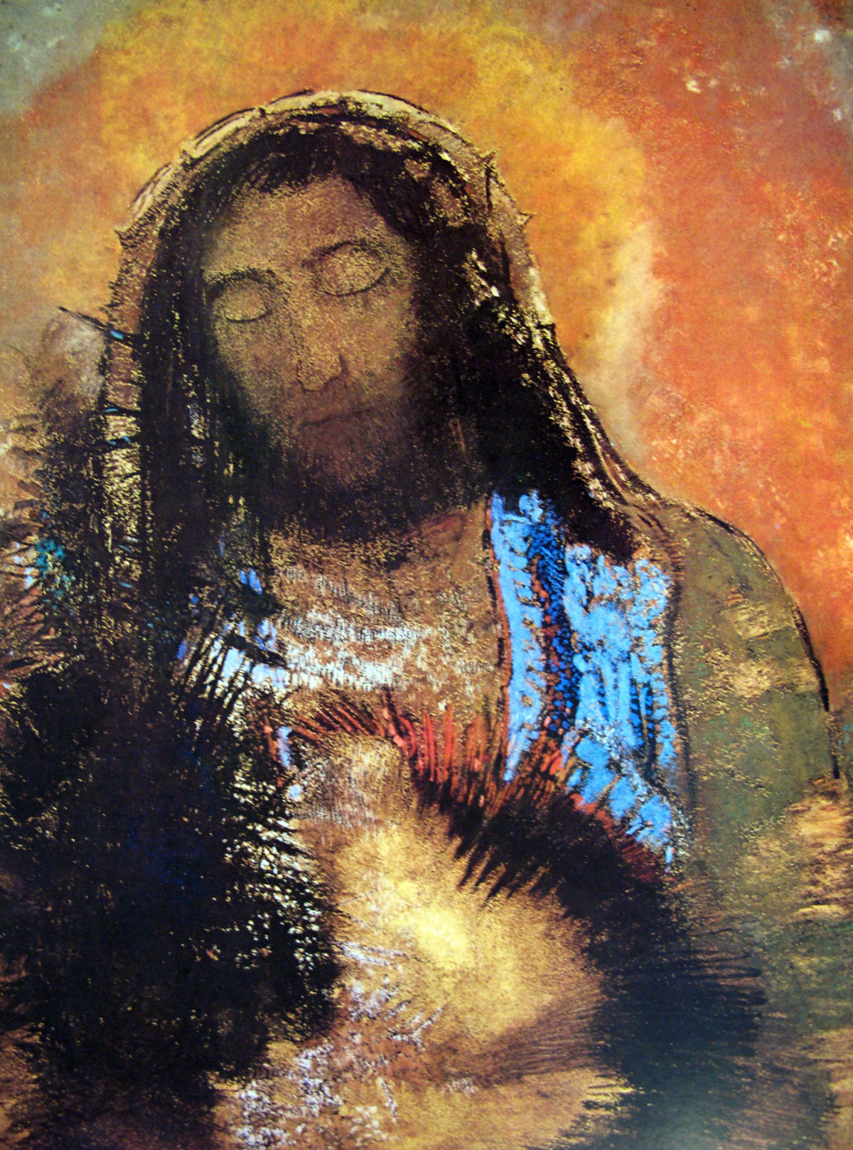 Sacred Heart by Odilon Redonn Musée d'Orsay, Paris, France