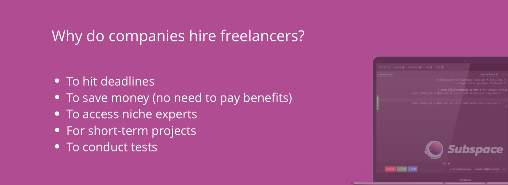 why companies hire freelance software developers