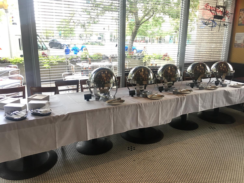 INTERIOR-Main Dining Room-party buffet setup.JPG