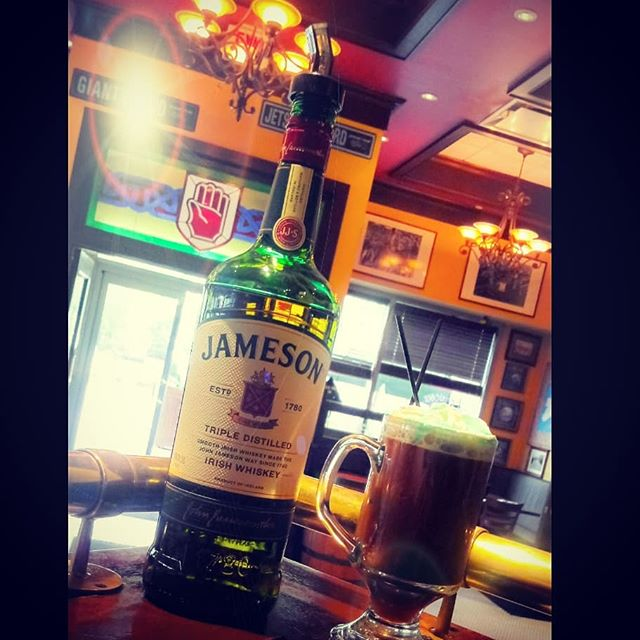 Rise & Shine!!! It's friday! What's in your coffee?? * * * * * #jameson #jamesonwhiskey #coffeelovers #morning #morningmotivation #jceats #newjersey #bar #irishpubs #publife