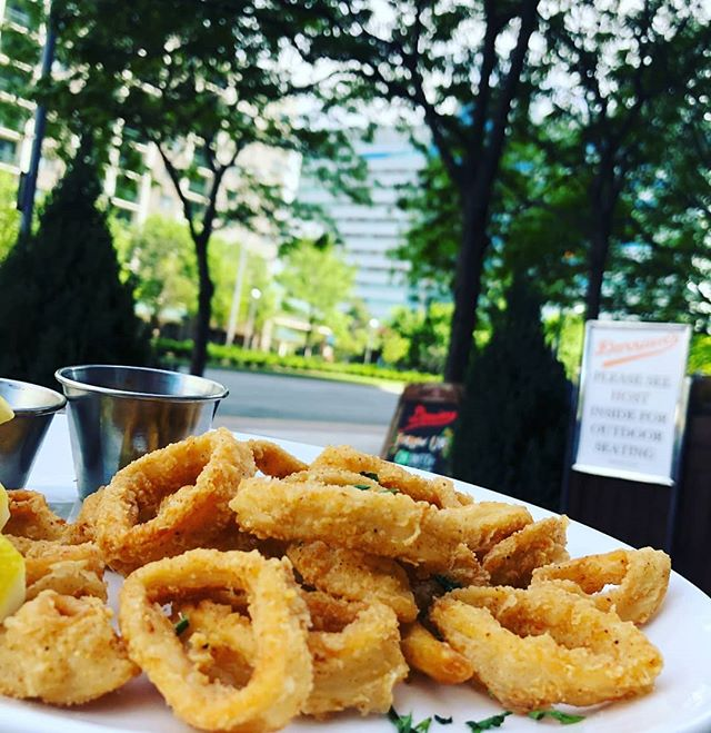 A perfect appetizer for a beautiful spring day! And our calamari ROCKS! * * * * * #calamari #seafood #spring #jceats #jc #newjersey #delicious #mouthwatering #foodporn #jerseyfood