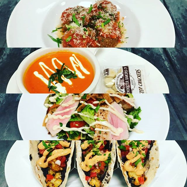 """One cannot think well, love well, sleep well, if one has not dined well."" Come in today to try this week's specials. 🍀 -Mozzarella Stuffed Meatballs -Tomato Bisque -Fresh Ahi Salad -Vegan Tacos  #yum #yummy #jceats #jcupfront #njfoodie #newjersey #jerseyfood #jerseycitynj #italianfood #tomatobisque #ahituna #cauliflower #vegan #vegantacos #irishpubs #bars #bar #jcbarguy"