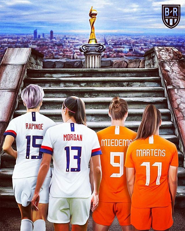 Join us tomorrow @11AM to watch USA vs. NETHERLANDS ! Brunch is being served. Nothing's better than Steak & Eggs and our one and only MAGGIE serving up drinks! #brunchtime #fifa19 #fifawomensworldcup #soccer #futbol #bartending #brunchgoals #jerseycitynj