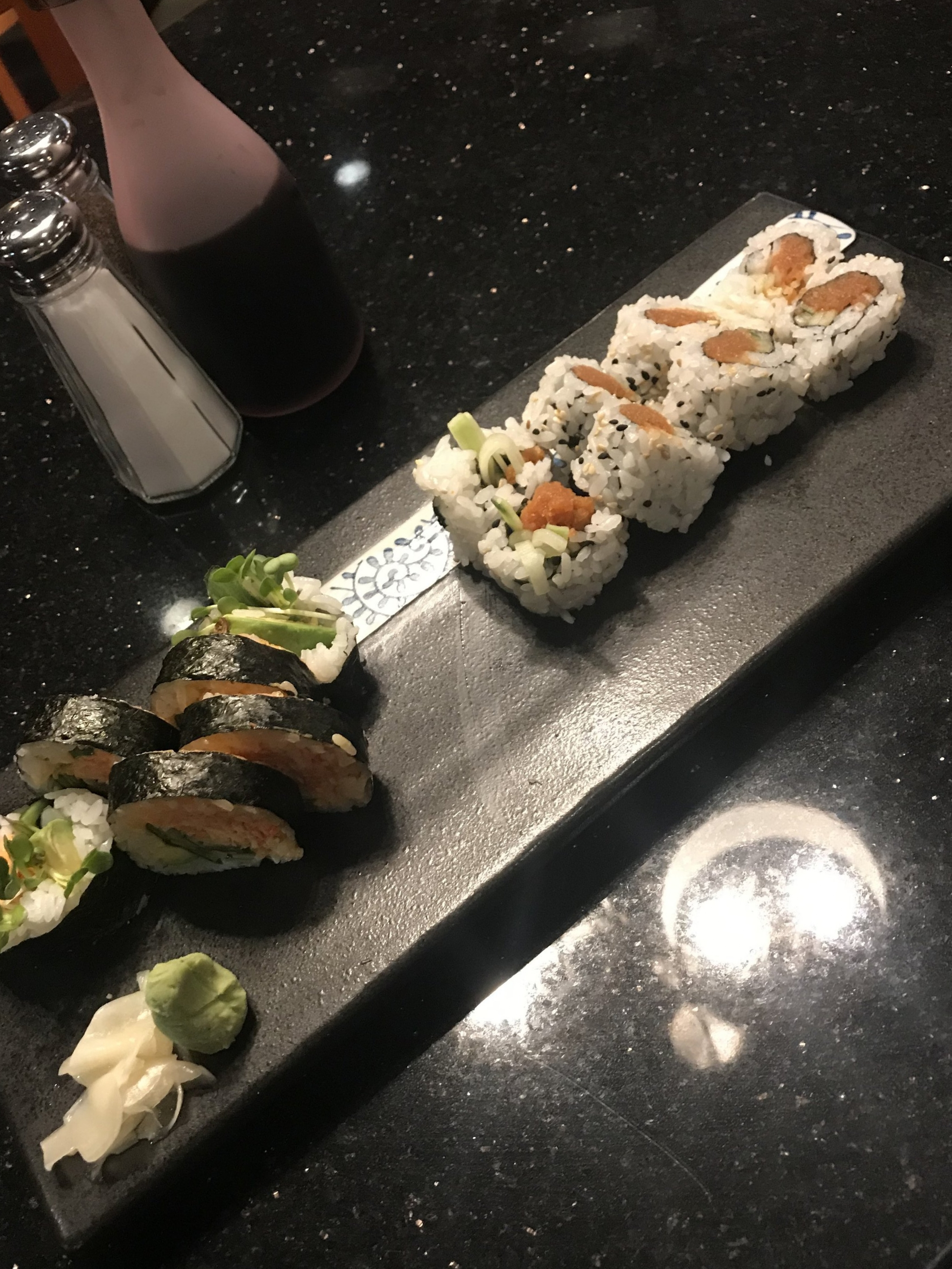 Spicy Tuna Roll and Spicy Crab Roll