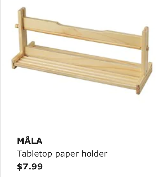 - This paper holder and the roll that goes with it are a great addition to any maker space or art corner. I love just having the roll sit out so students can just pull the paper out and use it right on the counter.
