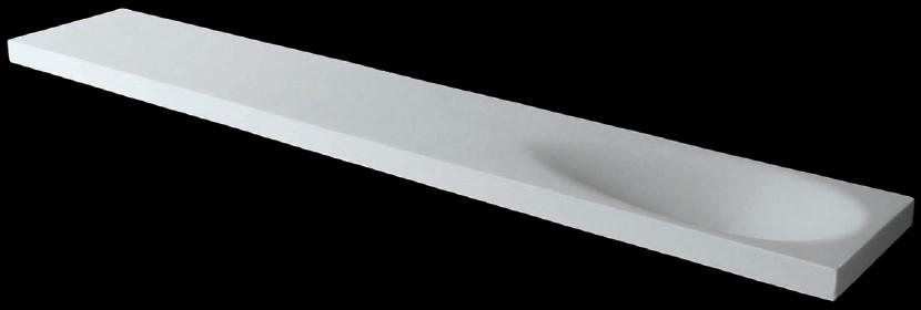 CITY shower shelf with hidden fasteners 69 w x 12cm deep, Stonefeel Crema.jpg