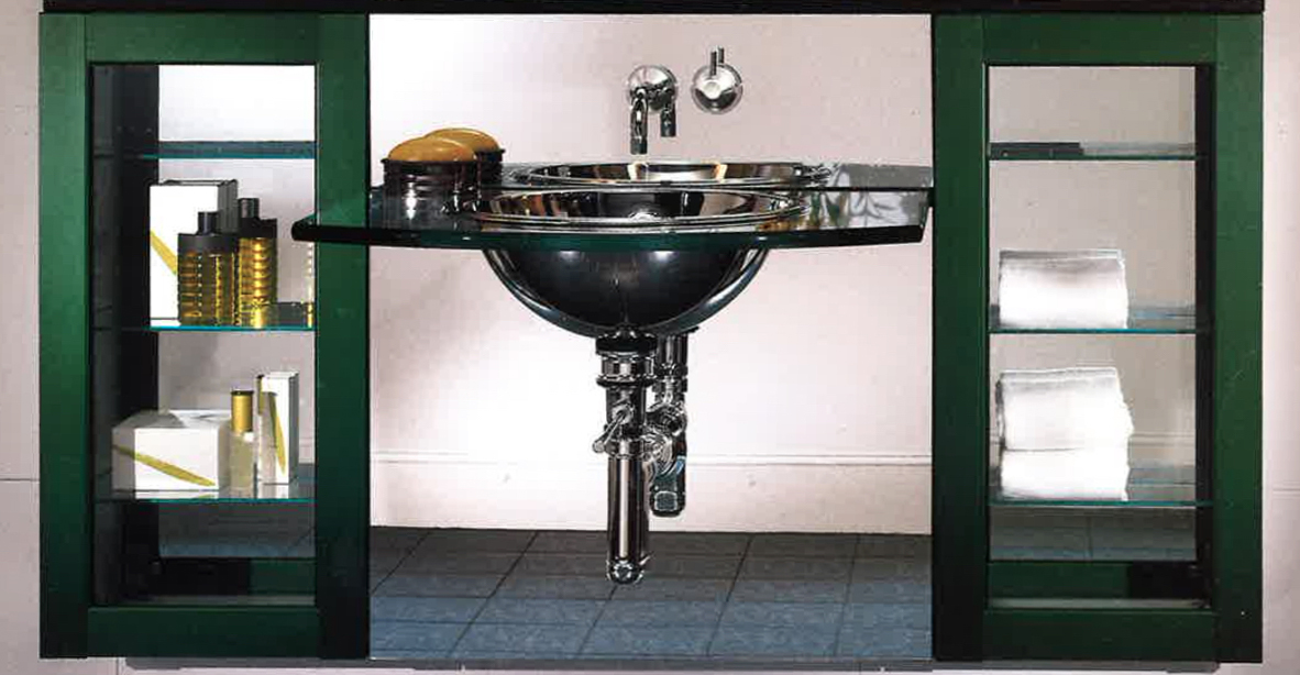 Robern Bar Cabinets, annodized green  39h x 16w x 8d - 1.jpg
