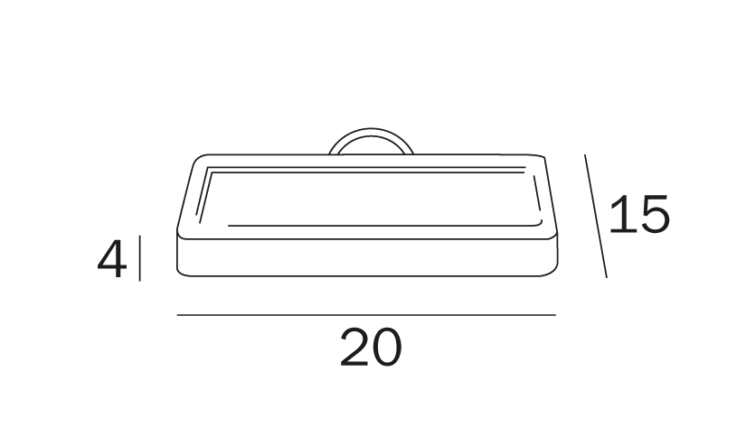 Inda H20 Citterio shower accessory tray, 20 w x 15 projection x 4cm tall, PC and glass.jpg