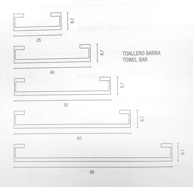 CITY Towel rail, 25, 40, 50, 60. 80cm wide spec sheet;  specify length.jpg