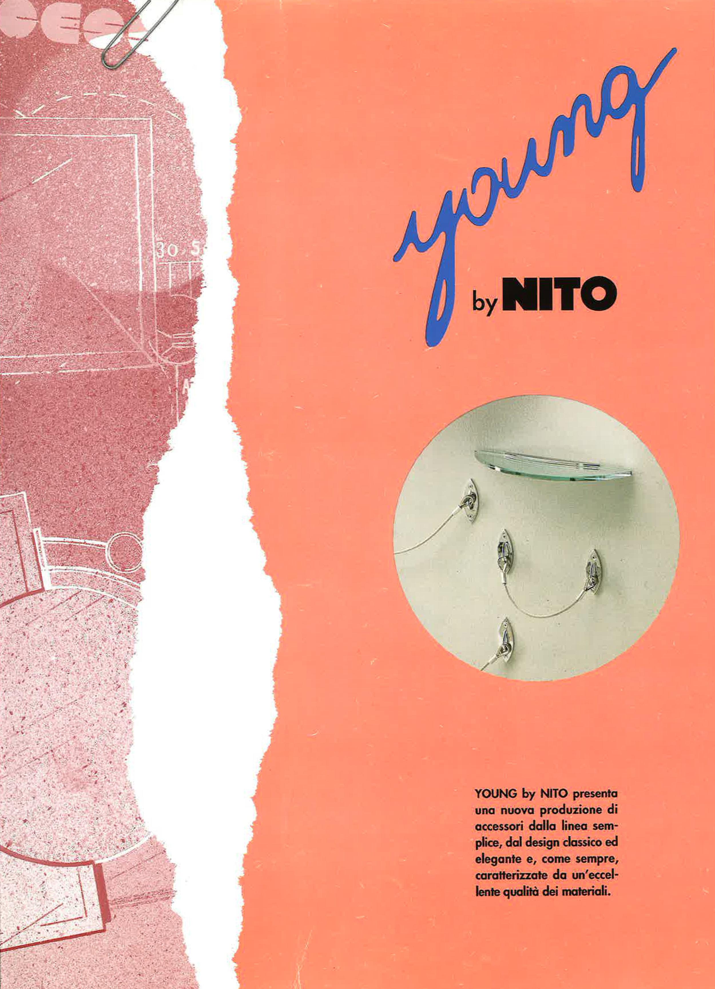 NITO catalog image of Venezia bath accessories range