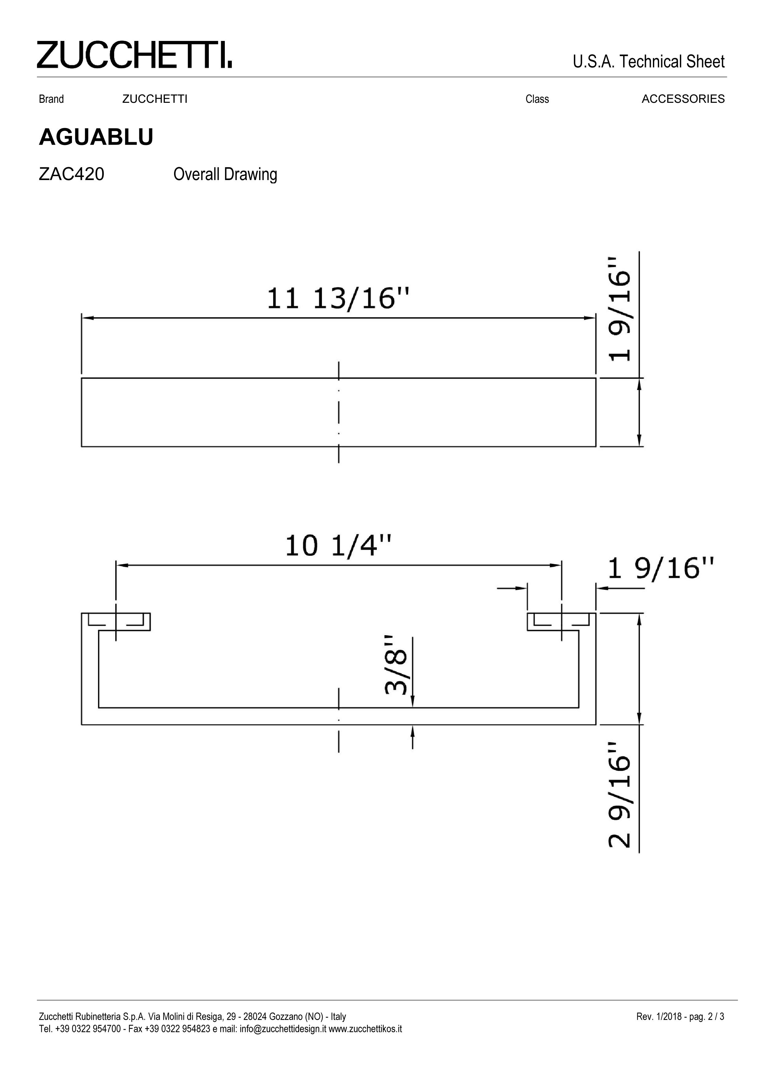 Zuchetti Aquablu towel rail, 30 w x 6,5 projection x 4cm tall,  PC-2.jpg