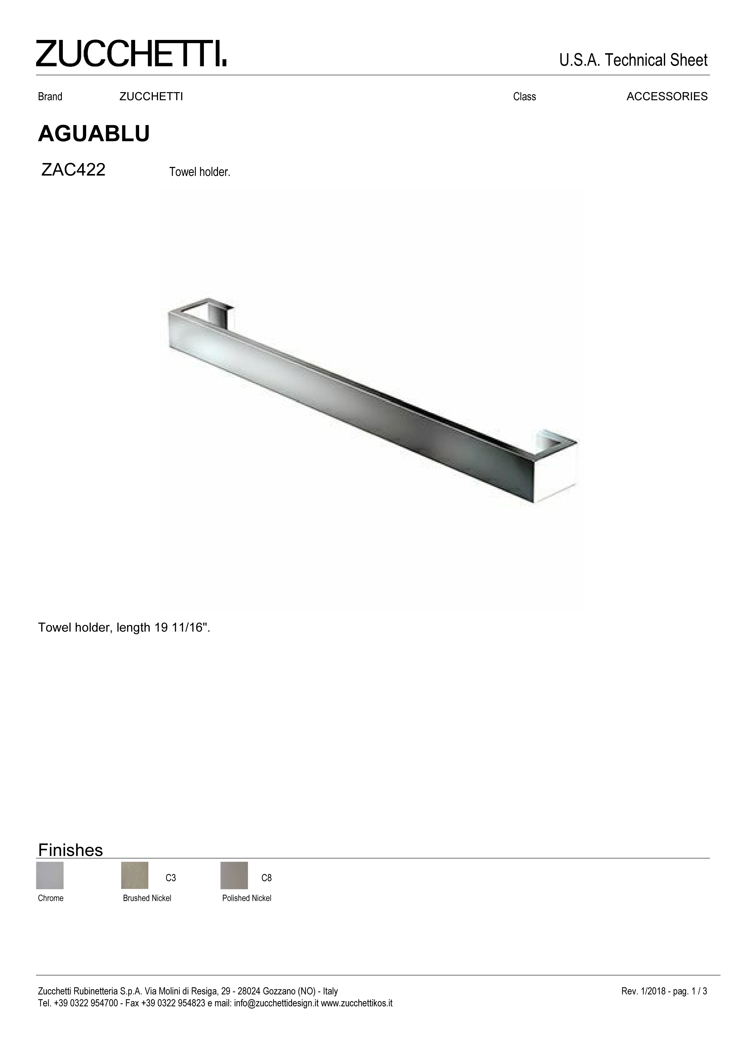Zuchetti Aquablu towel rail, 50 w x 6,5 projection x 4cm tall, PC, BN-1.jpg