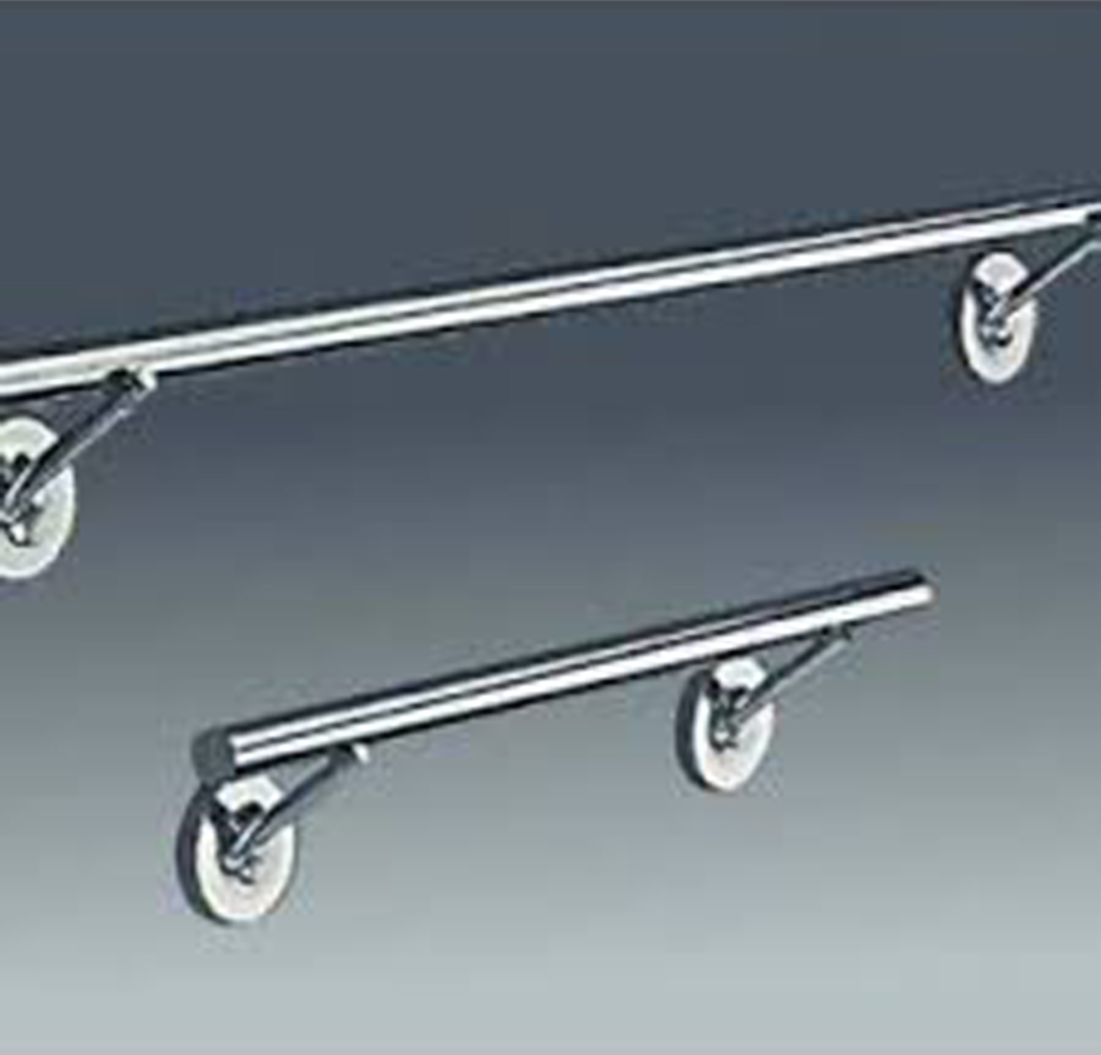 Starck 1 towel rails shown in 2 available lengths: 30 cm hand towel rail and 60 cmbath towel rail