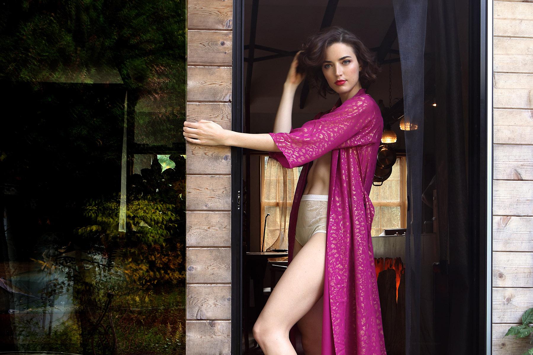 holiday-14-bts-lingerie-lookbook-raspberry-pink-gold-robe-porch-1.jpg