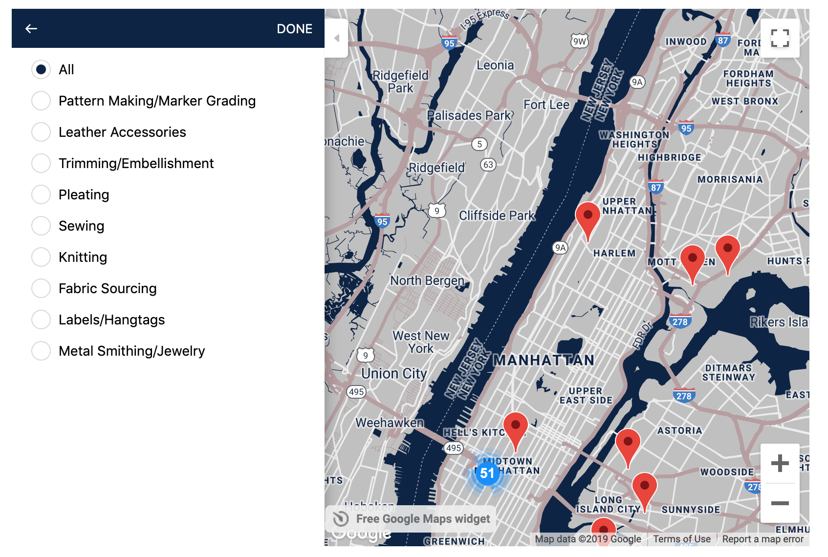 Urban Made Project Garment District Map