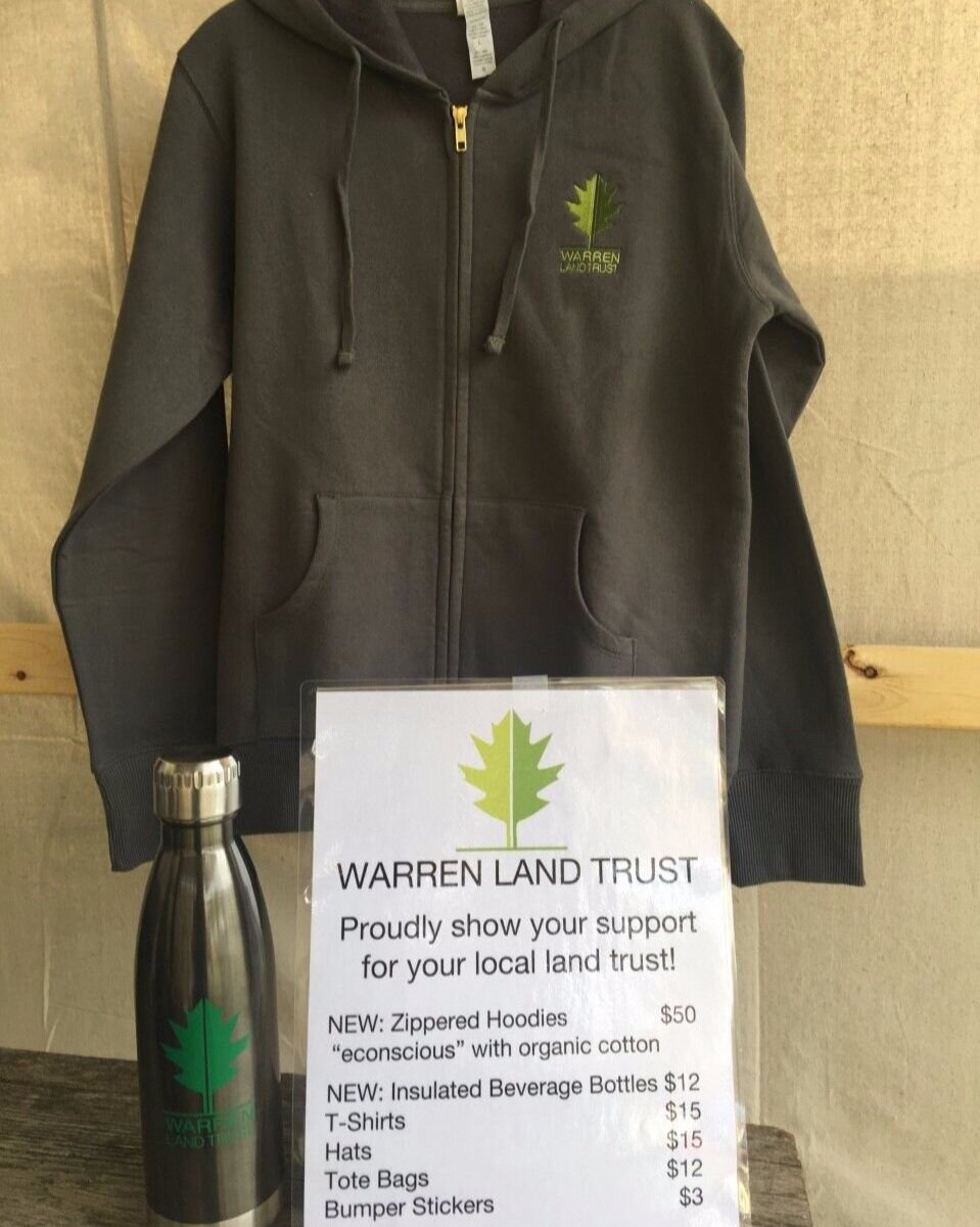 """The latest WLT merchandise: """"Econscious"""" zippered hoodies and insulated beverage bottles - just what you need for fall!"""