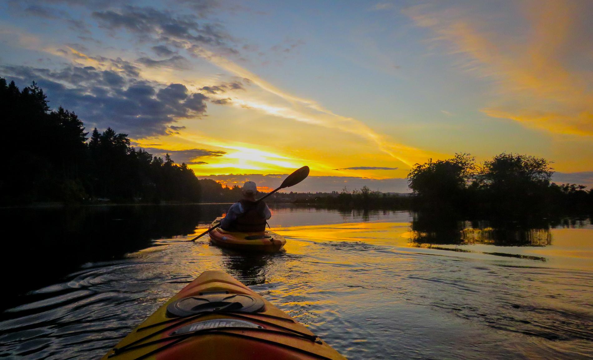 Barbara Hooper, Nanaimo River Estuary,   Evening Paddle