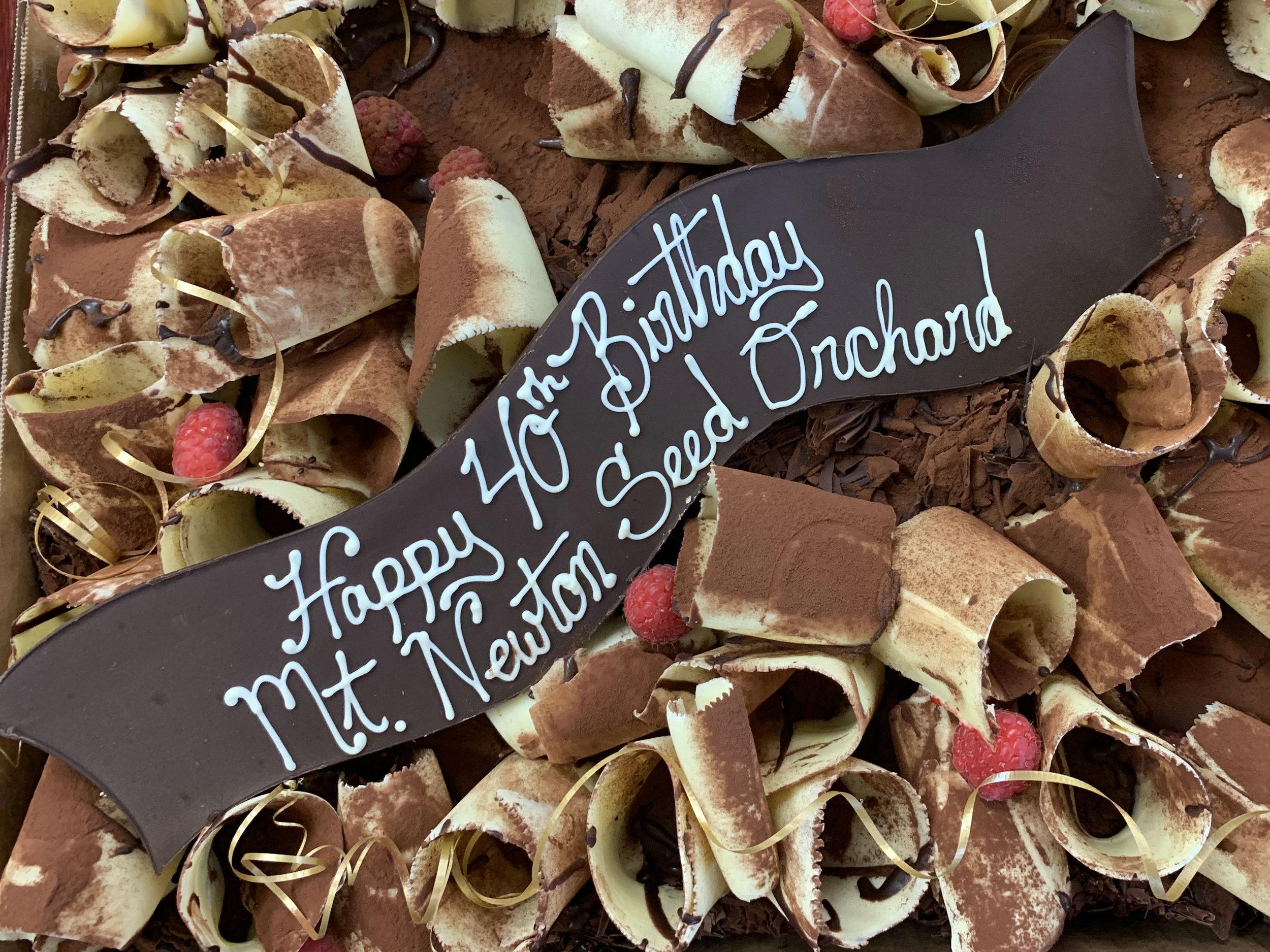 Mt Newton 40th birthday cake.jpg