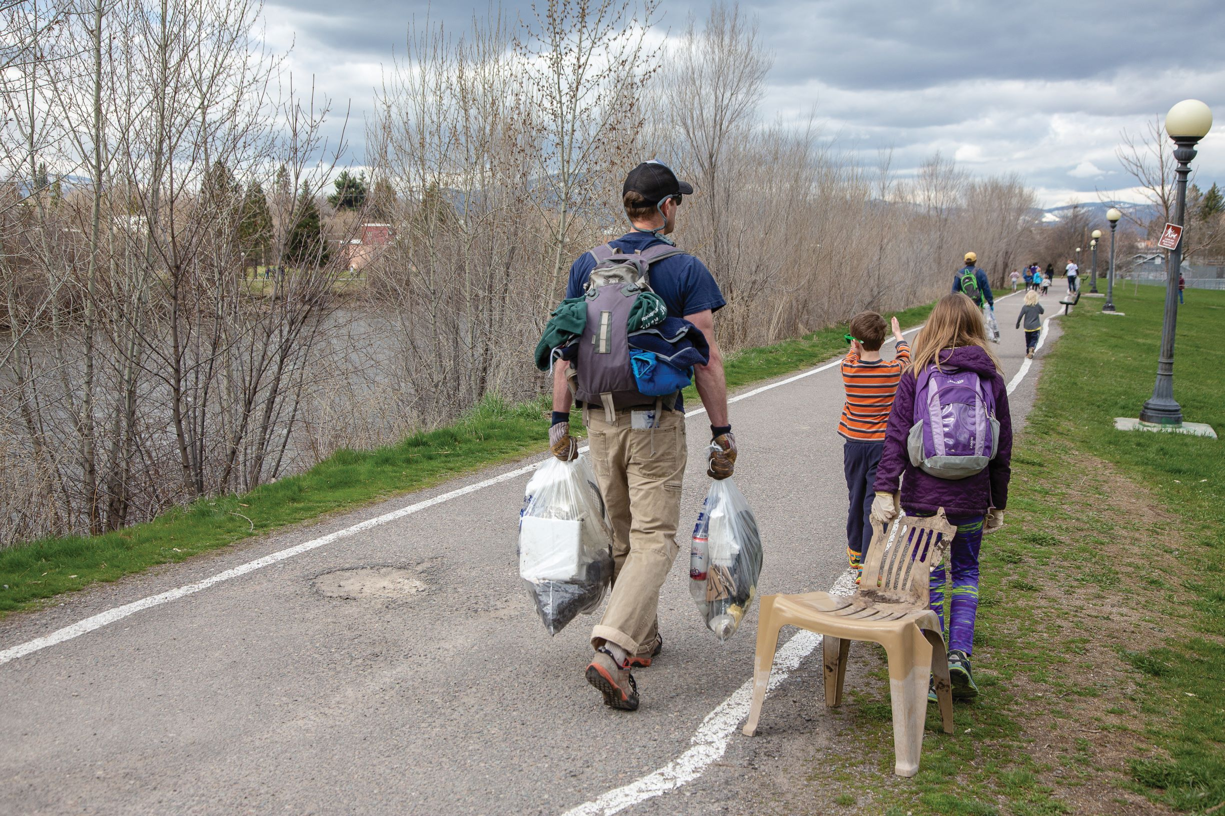 Supporting a broader understanding of Zero Waste and how to get there. - Photo of Clark Fork River cleanup courtesy of Off Route Photography