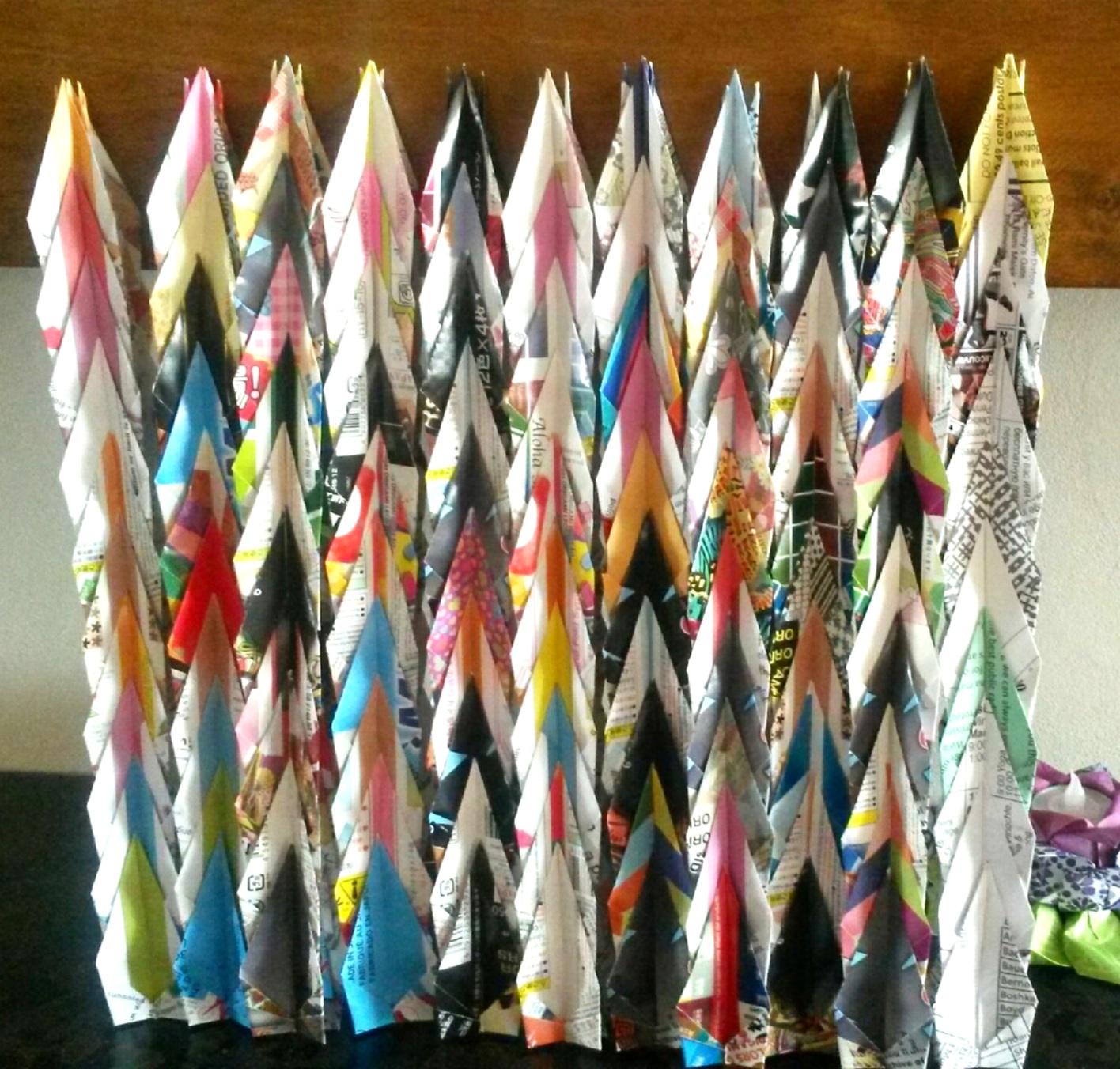 Recycled Origami Paper Cranes