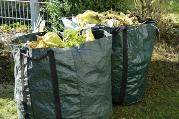 Large Reusable Bags Filled with Yard & Garden Scraps