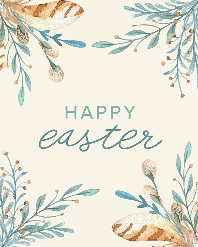 We hope everyone has a beautiful day today. Just a reminder that we are closed today 🐣